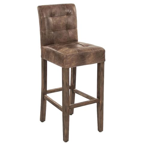 Rustic Bar Chairs by Sigmund Rustic Lodge Tufted Brown Leather Bar Stool