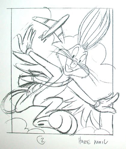 preliminary sketches for the bugs bunny stamp