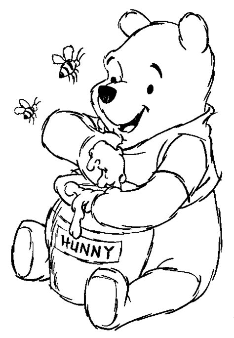 disney animal winnie the pooh characters coloring pages