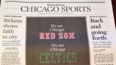 chicago tribune food section chicago tribune sports section pays tribute to boston