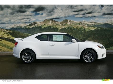 white 2012 scion tc standard tc model exterior photo