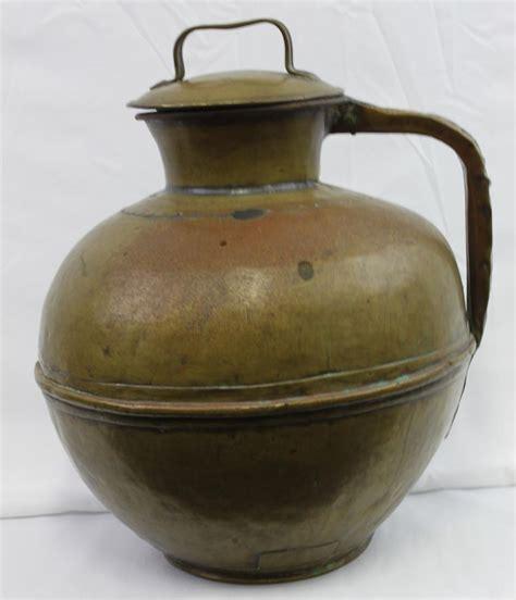 Brass Jar L by Large Brass 19 Century Milk Jar