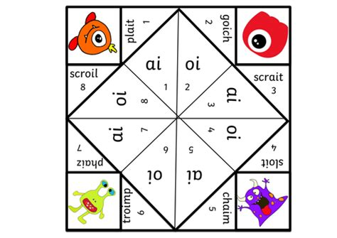 printable phonics games year 1 a set of 3 paper fortune phonics games year 1 reception