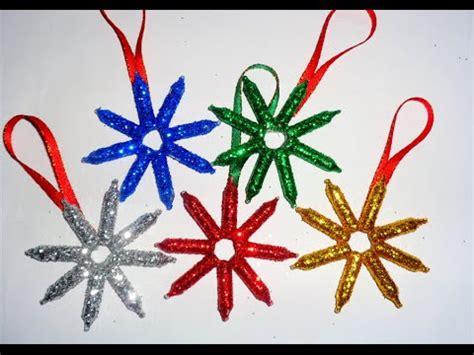 como hacer unas lindas estrellas recicladas para tu arbol