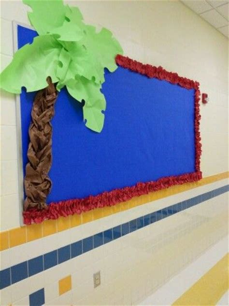 How To Make A Board With Paper - palm tree bulletin with butcher paper bulletin board