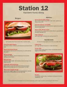 american lunch menu template american menu