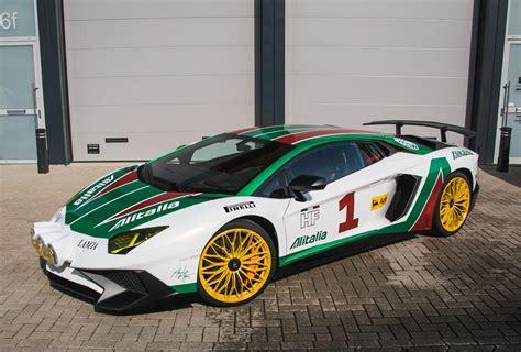 lamborghini rally car lamborghini aventador sv does alitalia rally car cosplay