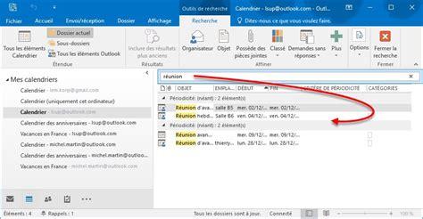 Recherche Calendrier 2016 Outlook 2016 Recherche D Informations Dans Un Calendrier