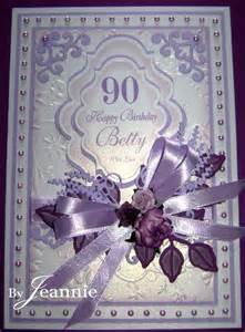 a 90th birthday in lilac spellbinders card designs 8 pi