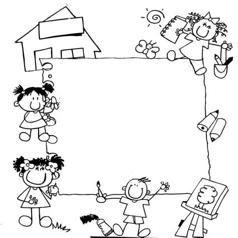 imagenes escolares sin colorear inspirado dibujos infantiles escolares para colorear