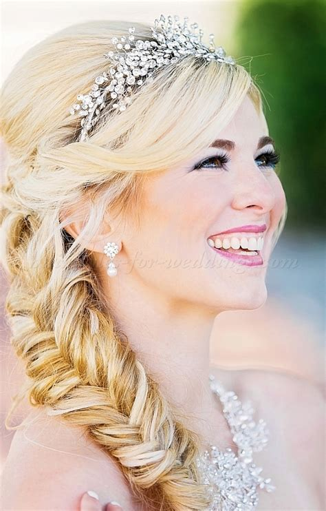Braided Wedding Hairstyles With Tiara by Wedding Tiara Bridal Tiaras Wedding Hairstyle With