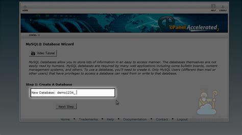 belajar membuat database di mysql bagaimana cara membuat database mysql di cpanel faq