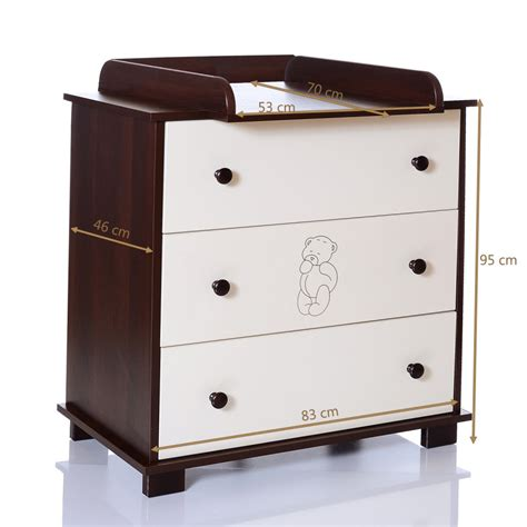brown changing table baby chest of drawers baer brown changing table unit