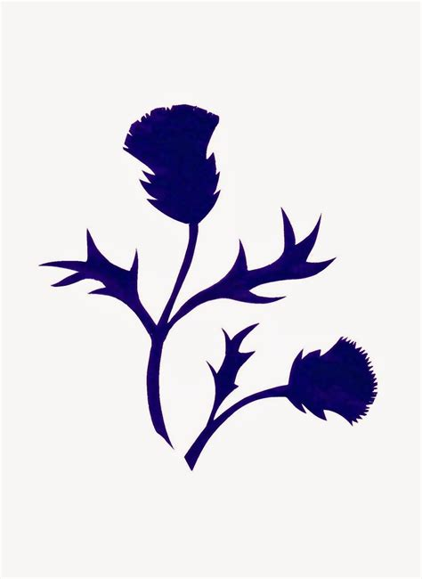 silhouette tattoo paper instructions thistle silhouette by sue small foxes ridge folk arts
