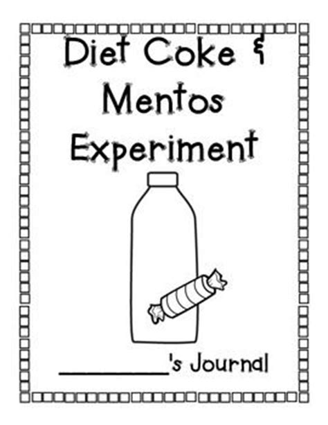 Mentos Experiment Worksheet by 78 Images About Science Fair On Diet Coke