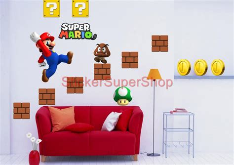 mario brothers wall stickers mario wall decals roselawnlutheran