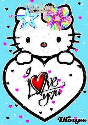imágenes de i love you baby hello kitty love you picture 114216642 blingee com