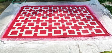 Painting An Outdoor Rug Painting A Rug
