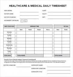 Timesheet Template by Sle Time Sheet 7 Documents In Pdf Doc Excel