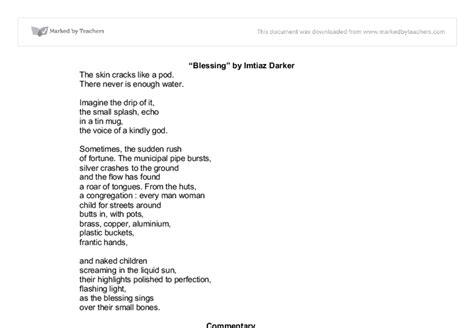 this room imtiaz dharker poem blessing imtiaz dharker essay