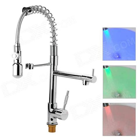 kitchen water faucet modern led color changing chrome finish kitchen faucet water tap free shipping dealextreme
