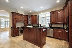 Light Cherry Kitchen Cabinets Traditional Cherry With Counter Top And Light
