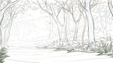 layout and background artist thesis background 7 forest layout by kenyu05kr on deviantart