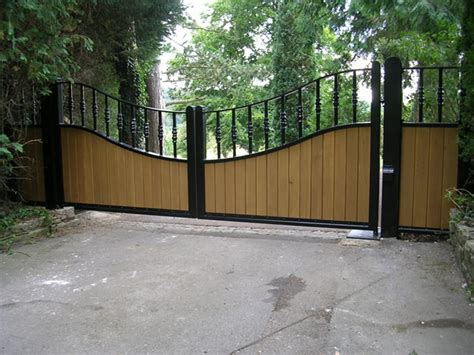 country style gates automatic hinged gates