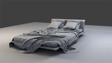 3d bed realistic bed 3d model by sadaj72 3docean