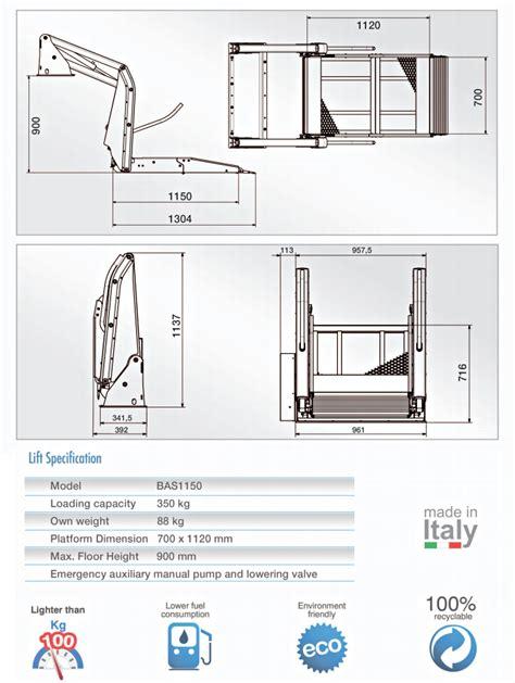 pedane per furgoni pedane furgoni per disabili sollevatori in alluminio per