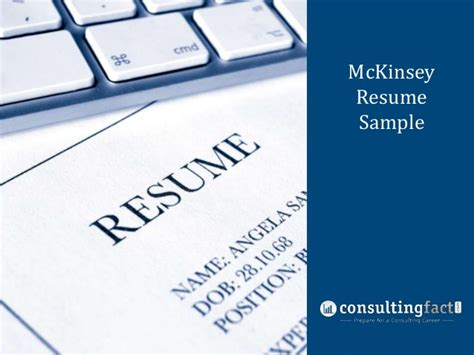 Sample Management Consulting Resume mckinsey resume sample