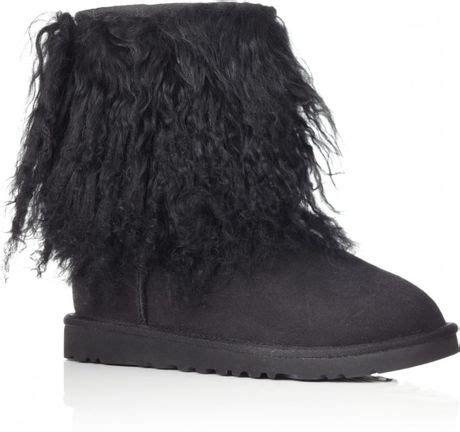 ugg sheepskin cuff boot in black lyst
