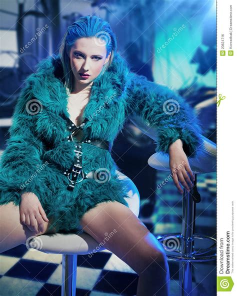 sexy woman wearing fur royalty  stock image image