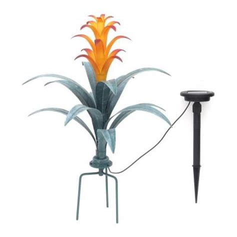 trendscape solar lights trendscape bromeliad brown plant solar led light