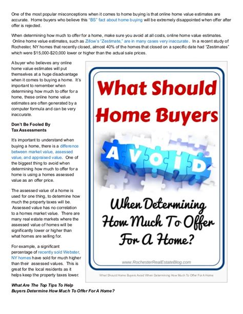 how much should i offer on a home tips to help determine