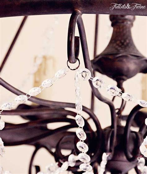 Adding Crystals To A Chandelier Diy Chandelier Update From Italy To On A Budget Diy Chandelier Crystals And Italy