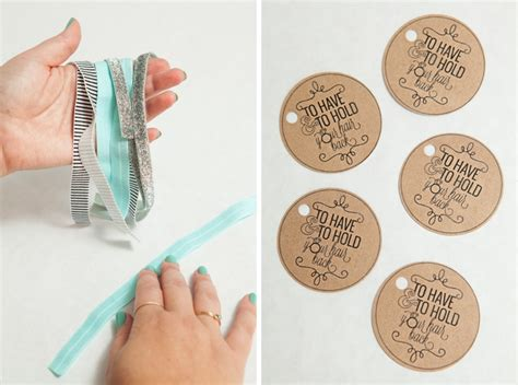 hair tie card template bachelorette learn how to make elastic hair tie favors
