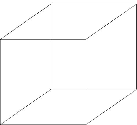 Cube Outline Pdf by Outline Of A Cube