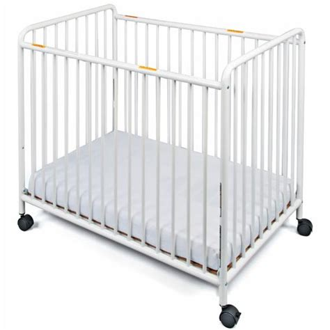 Cribs With Wheels by Foundations 2061097 Chelsea Steel Compact Crib Slatted
