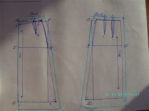 pattern drafting to create unique sewing patterns how to draft a custom fit a line skirt pattern