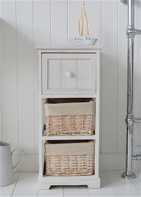 Bathroom Drawers The Range Cape Cod White Bathroom Storage Furnitue With 3 Drawers