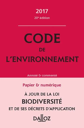 fb html code 2017 code de l environnement 2017 collectif dalloz dalloz