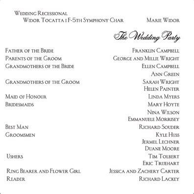 layout for wedding reception program mrs ant s sle wedding program layouts weddingbee