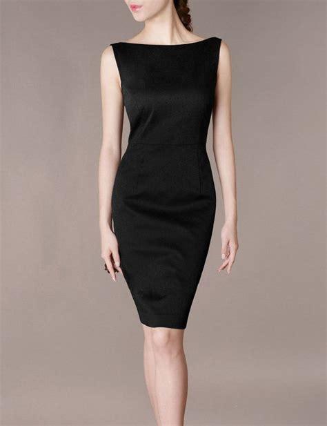 how to cut boat neck dress formal concert black dress elegant slim boat neck