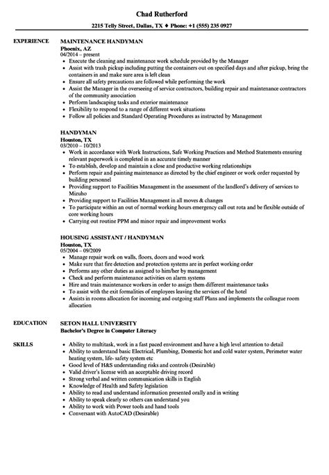 resume handyman resume ideas