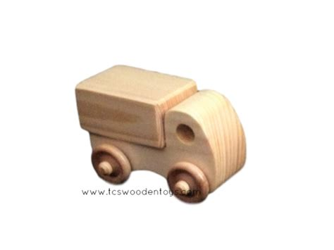 Mini Chunky Puzzle Truck mini wood chunky box truck vehicle tcs wooden toys