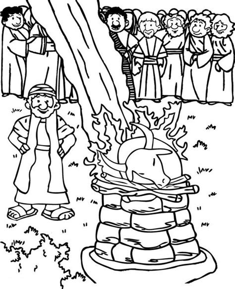 Elijah And The Prophets Of Baal Coloring Page free coloring pages for coloring sun part 41