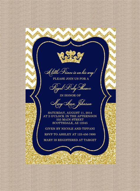 Prince Baby Shower Invitation Royal Blue Gold Baby Shower Invitation Little Prince Gold Free Royal Prince Baby Shower Invitation Template