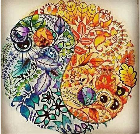 secret garden or enchanted forest coloring book 秘密花园涂色样本及成品作品参考展示