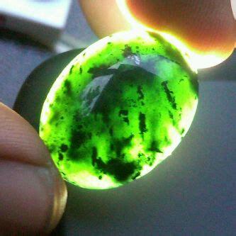 Senter Batu Akik Terbaik batu badar besi hijau kebumen tembus senter hijau